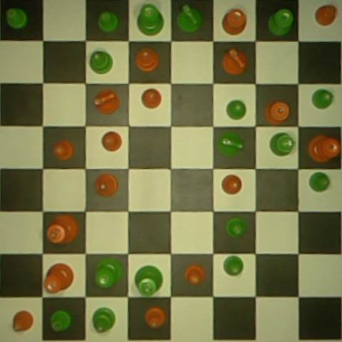 480x480 chessboard captured by camera.